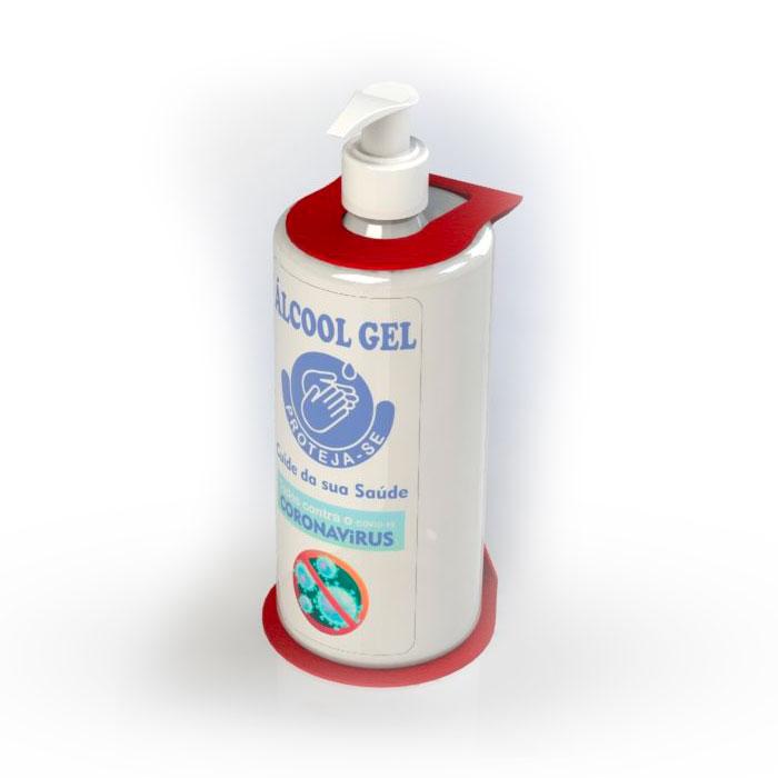 Dispenser álcool gel de parede